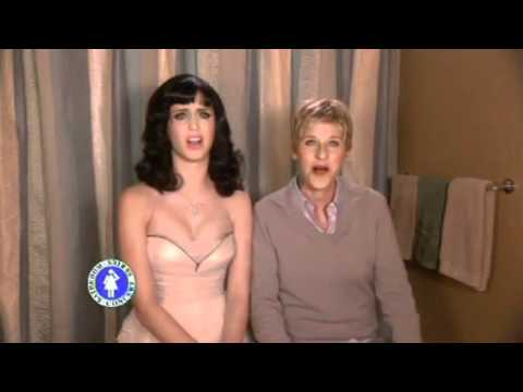 Katy Perry singing I kissed a girl ft. Ellen Degeneres