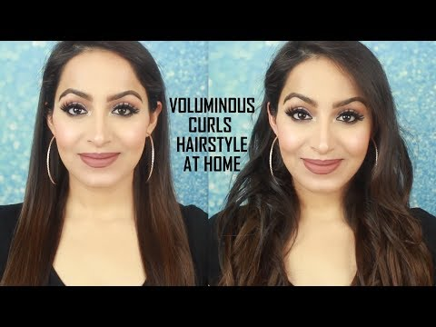 Voluminous Curls Hairstyle at Home(HINDI)| Deepti Ghai Sharma