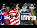 Les Américaines Écrasent Le Record Du Monde Du 4x100M À Londrès 2012 | The Olympics On The Record