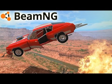 SALTOS BRUTALES - BEAMNG.DRIVE (MOD MAPS) | Gameplay Español