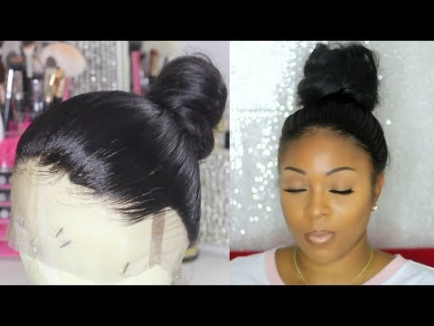 Glueless Full Lace Wig In A Bun   Customize / Pluck Your Lace Frontal Step By Step   RosaQueenHair