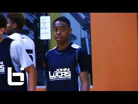 Damon Harge Is Next UP! 9th Grade PG Shows Off Crazy Quickness & Handles at Lucas Camp