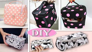 AWESOME DIY STORAGE BAG ORGANIZER IN 30 MIN TUTORIAL // Cosmetics Bag Handmade