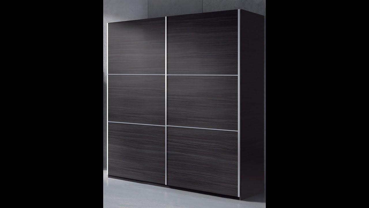 Armario ropero de puertas correderas de medidas 150x200 for Roperos para dormitorios en melamina