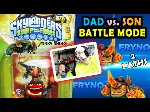 Dad vs. Son FRYNO Skylanders Swap Force Battle Mode (Fully Upgraded w/ Both Paths)