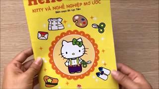 Đồ chơi DÁN HÌNH MÈO HELLO KITTY & KỂ CHUYỆN nghề nghiệp mơ ước của Kitty Toys for Kids (Chim Xinh)