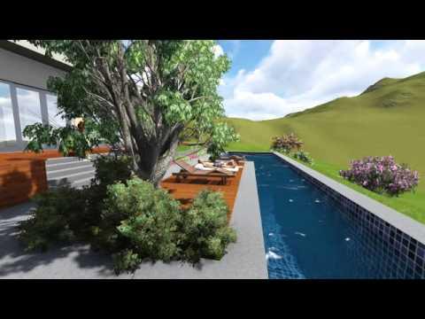 Modelo 3d Proyecto Casa y Piscina