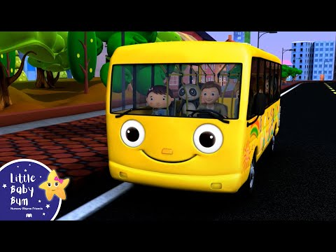 Wheels On The Bus - Nursery Rhymes. HD Version
