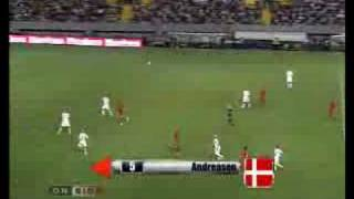Last 10 min Portugal 2-3 Denmark 10/9 08 Danish commentator
