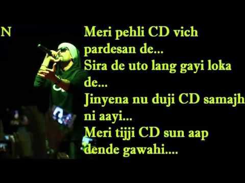 BOHEMIA - Lyrics of 'Desi Putt Jawan' By
