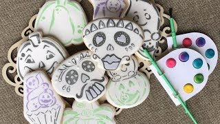 Halloween Paint A Cookie designs using stencil - using cut your own stencil designs