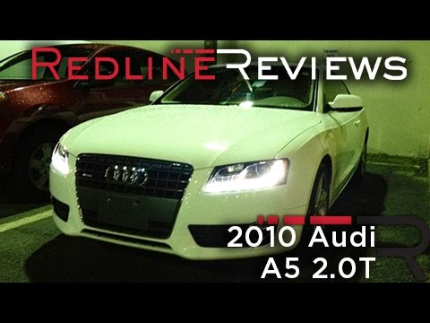 2010 Audi A5 2.0T Review. Walkaround. Start Up. Test Drive