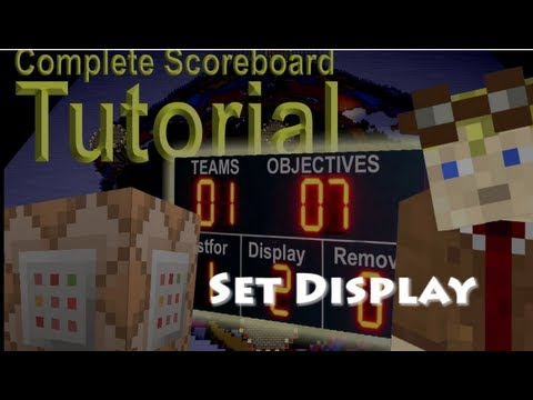 How To set your scoreboard display in Minecraft