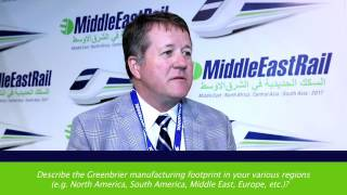 Tom Jackson, VP Corp Marketing for The Greenbrier Companies, on Railway Interchange 2015