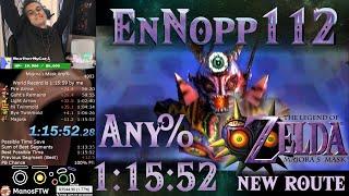The Legend of Zelda: Majora's Mask Any% Speedrun World Record (1:15:52) NEW Route