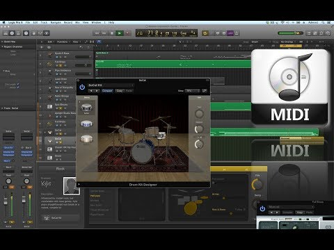 Logic Pro X - working with MIDI files  (1440p)