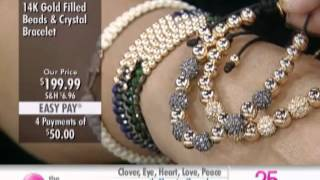 Sundar Designs 14K Gold Filled Beads and Crystal Ball Bracelet at The Shopping Channel 459459
