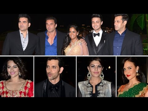 Arpita Khan WEDDING RECEPTION | Salman Khan, Hrithik Roshan, Sonakshi Sinha, Jacquline Fernandez