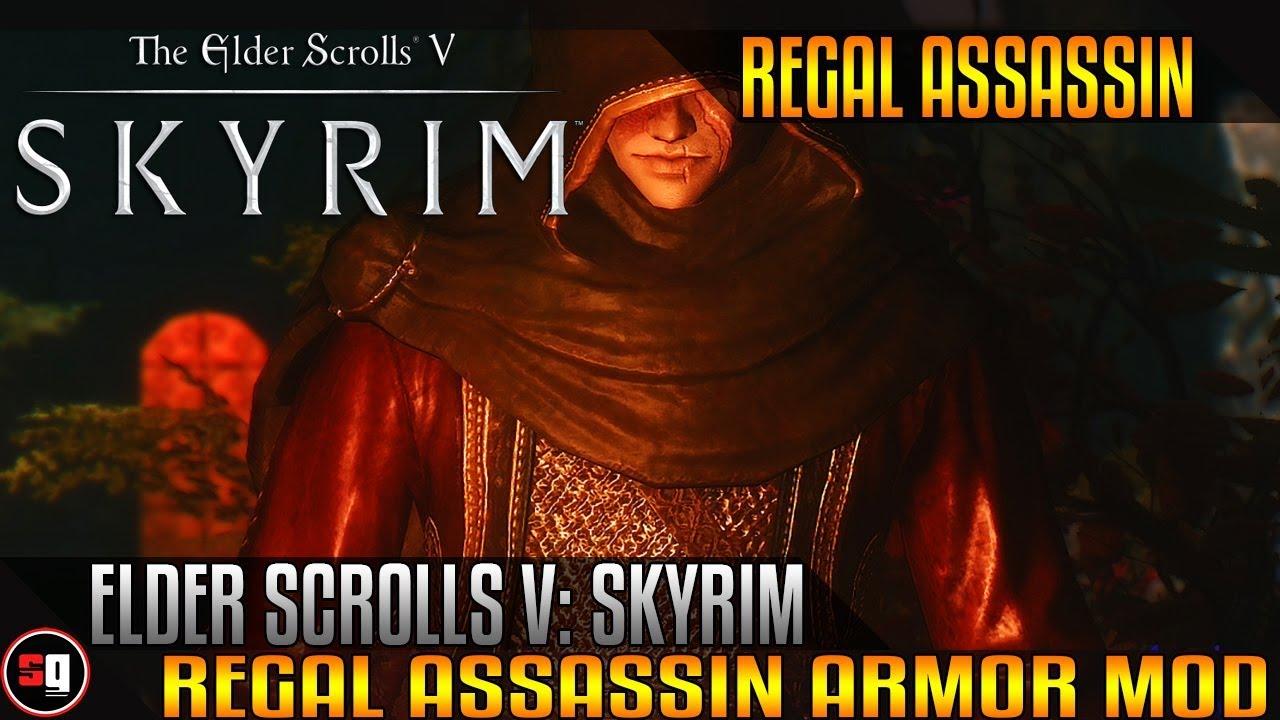 Skyrim Assassin Armor Mods Regal Assassin Armor Mod