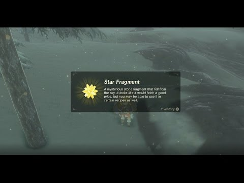 Star Fragment in a Chest at Snowfield Stable
