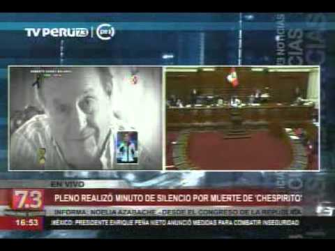 En toda Hispanoamérica lamentan la muerte de Chespirito, y el Congreso del Perú no es la excepción. Los parlamentarios guardaron un minuto de silencio, en homenaje al fallecimiento del genial 'Chavo del Ocho'. (Video: TV Perú)