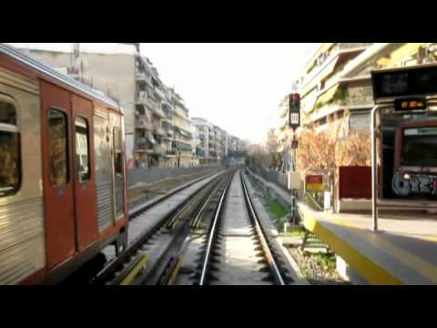 Metro of Athens Greece line 1 cab ride