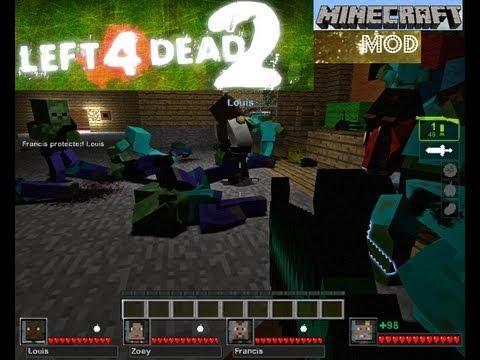 Left 4 Dead 2 Minecraft Mod gameplay partea 1 cu comentariu in Romana