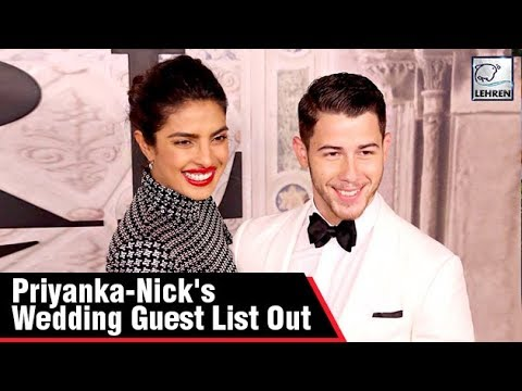 Priyanka Chopra & Nick Jonas's Wedding Guest List Details Out, Here's Who Is Invited | LehrenTV thumbnail