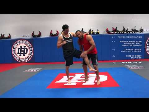 Dan Henderson MMA Techniques of the Week Single Leg Takedown Right vs Right Hand Image 1