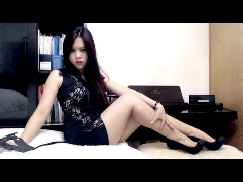 Exotic Asian Girl with Teaser Long Legs and Heels - Risque Vlog