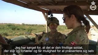 Mary besøger soldaterne i Mali Forsvarets TV