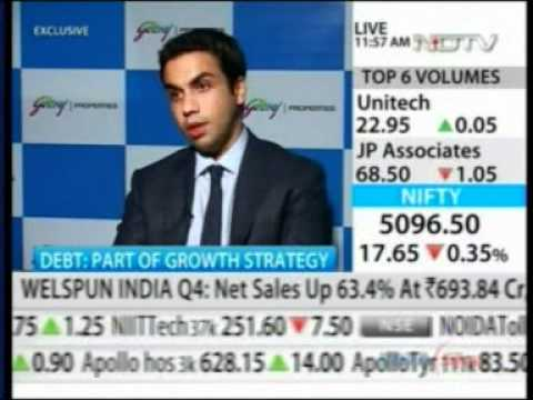 519 NDTV Profit Market Check 08 May 2012 02min 54sec Godrej Prop   Expansion Plans For 2012   2013 Mr  Pirojsha Godrej  11 56am
