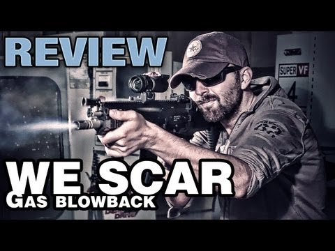 WE SCAR-L MK16 GAS BLOWBACK RIFLE - airsoft gun review and range test