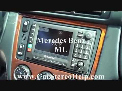 Mercedes Benz ML Bose Series Car Stereo Removal cd tape navigation  no sound fiber optic