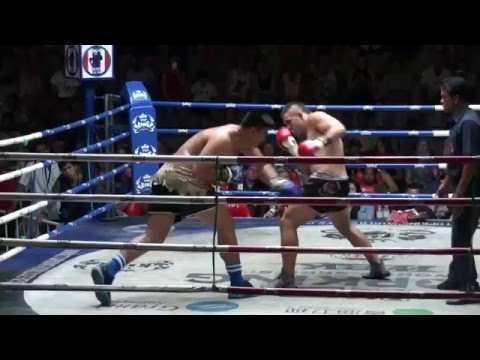 PK-1 Boxing TItle Fight: Sam Bastin (Tiger Muay Thai) vs Chaiyo Thalangyanyeung 1/2/16