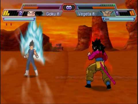 Dragon Ball Z Shin Budokai 2: Another Road Goku ssj4 vs Majin Vegeta