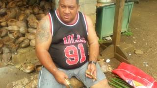 Luavaila's first Sunday dinner in Tonga