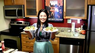 Healthy Recipes : Salmon Poke in Wonton Cups (Appetizers) : Healthy Food : Asian at Home