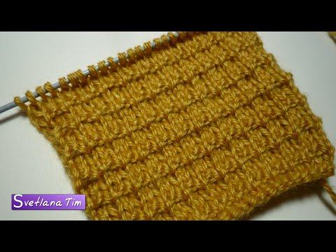 Вязание шарфа по косой начиная с трех петель