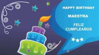 Maestra - Card Tarjeta - Happy Birthday