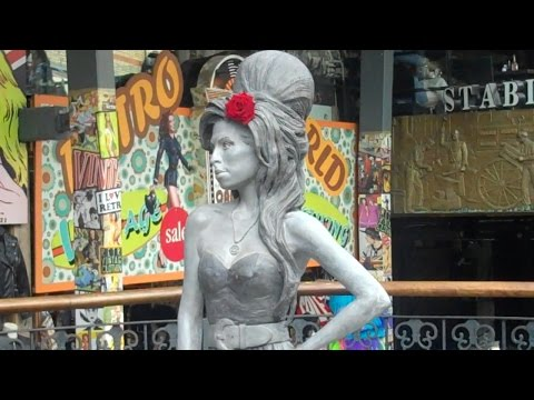 Amy Winehouse Stands in Camden