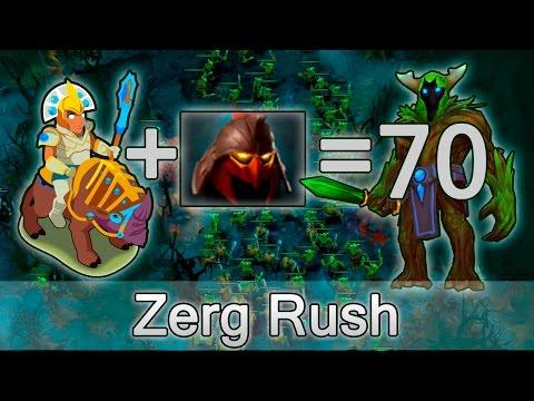 Zerg Rush in Dota — Chen + Dominator = 70 creeps