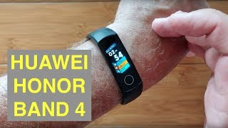 HUAWEI Honor Band 4 IP68 5ATM Waterproof Advanced Fitness Bracelet: Unboxing and 1st Look
