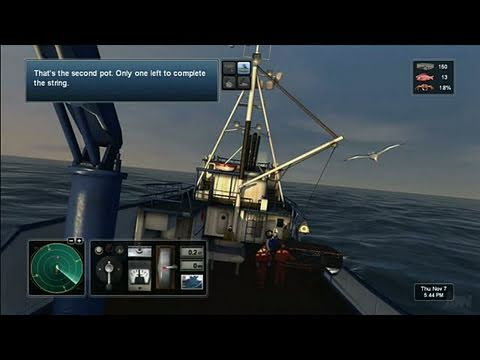 Deadliest Catch: Alaskan Storm Xbox 360 Gameplay - Crab!
