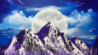 acrylic moon mountain