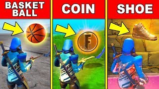 COLLECT A BASKETBALL, COIN AND SHOE IN A SINGLE MATCH LOCATION GUIDE - Downtown Drop Challenges