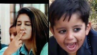 priya parkash varrier carrier vs KID / funny video/ oru adaar love