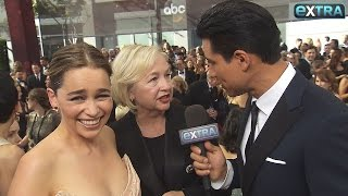 Emilia Clarke Jokes That Emmys Dress Wouldn't Work on 'Thrones': 'My Boobs Would Probably Fall Out'