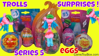 Trolls Series 5 Blind Bag Surprise Toys Chocolate Eggs Plastic Chupa Chups 3 Cooper Toy Review