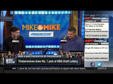 Mike & Mike - Minnesota Timberwolves Get 1st Pick In NBA Lottery